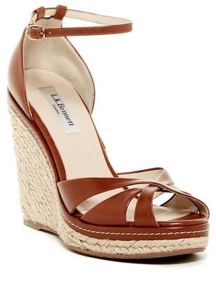 L.K. Bennett Litya Wedge Sandal $325 thestylecure.com