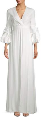 Alexis Nova Gathered Sleeve Maxi Dress