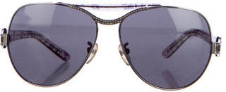 La Perla Lace Aviator Sunglasses $75 thestylecure.com