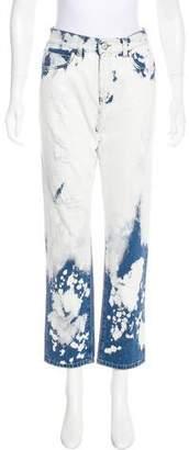 Gucci High-Rise Boyfriend Tie-Dye Print Jeans w/ Tags