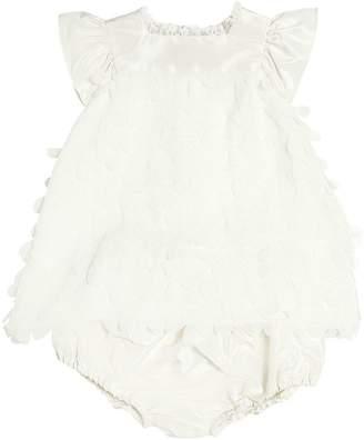 La Stupenderia Georgette Appliqués Dress & Diaper Cover
