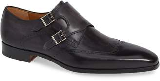 Magnanni Dixon Wingtip Double Strap Monk Shoe