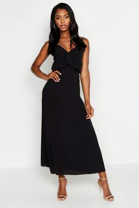 boohoo Strappy Frill Detail Maxi Dress