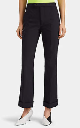 Maison Margiela Women's Twill Flared Trousers - Navy