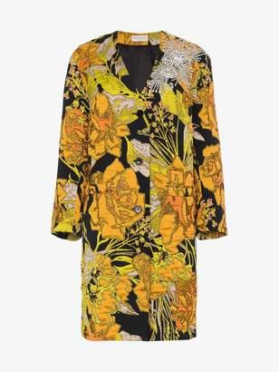 Dries Van Noten Floral Embroidered Coat