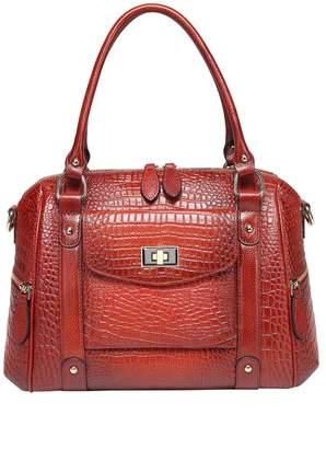 Vicenzo Leather Lane Croc Embossed Leather Handbag
