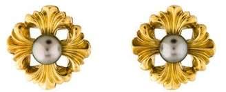 Lagos Sculpted 18K Pearl Earrings