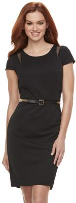JLO by Jennifer Lopez Women's Textured Mesh Sheath Dress