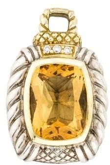 Judith Ripka Citrine & Diamond Enhancer
