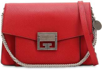 Givenchy Small Gv3 Grained Leather Shoulder Bag
