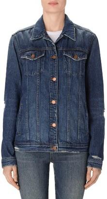 Women's J Brand Cyra Oversize Denim Jacket $298 thestylecure.com