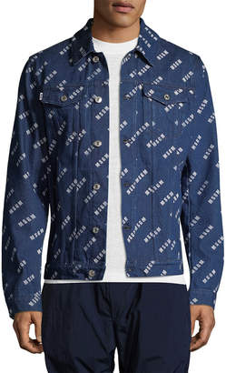 MSGM Logo Printed Trucker Jacket