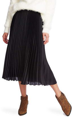 1 STATE 1.STATE Charmeuse Pleated Midi Skirt