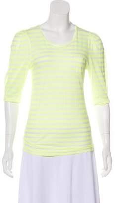 Sonia Rykiel Sonia by Striped Short Sleeve Top