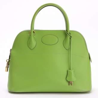 Hermes Bolide Green Leather Handbags