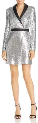 Rachel Zoe Meryl Sequin Faux Wrap Dress - 100% Exclusive