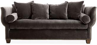 Hickory White Missy Sofa - Charcoal Velvet