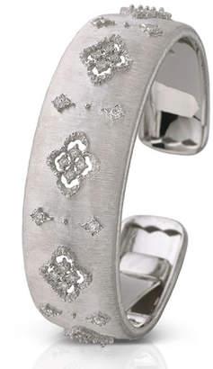 Buccellati 18k White Gold Diamond Cutout Cuff, 2cm