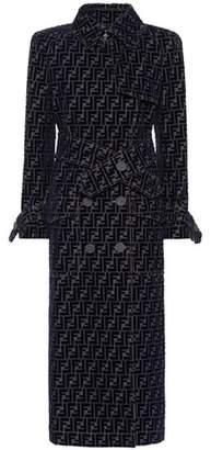Fendi Logo denim trench coat