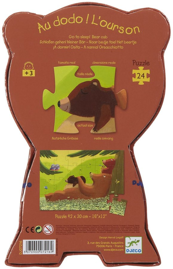 Djeco Go To Sleep Bear Silhouette Puzzle (24 pc)