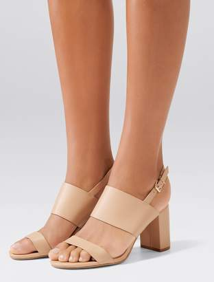 Forever New Molly Mid Block Heels - Sand - 37