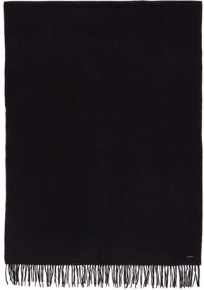 BOSS Black Oversized Lambswool Scarf