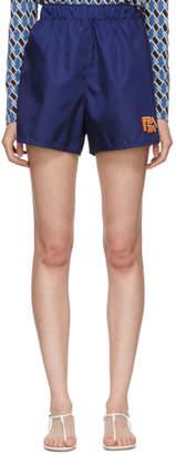 Prada Navy Nylon Gabardine Sport Shorts