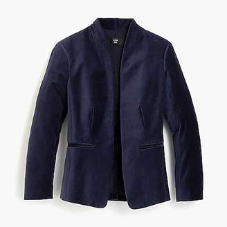 J.Crew Going out blazer in stretch velvet