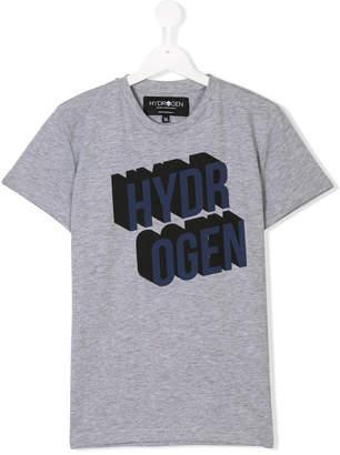 Hydrogen Kids Teen logo print T-shirt
