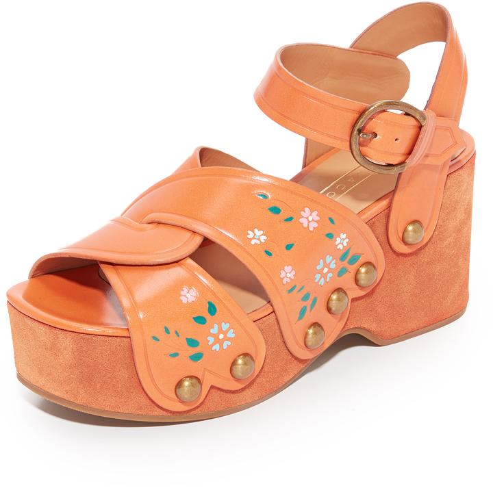 Marc JacobsMarc Jacobs Wildflower Wedge Sandals