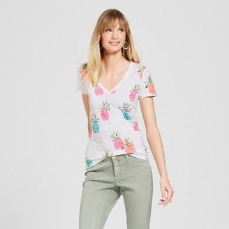 Merona Women's Printed Vintage V-Neck T-Shirt - Merona Pineapple $8 thestylecure.com