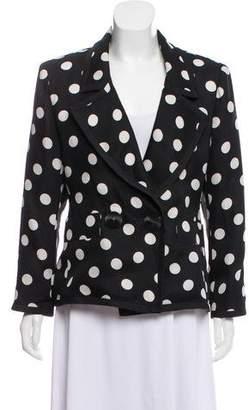 Saint Laurent Vintage Polka Dot Blazer