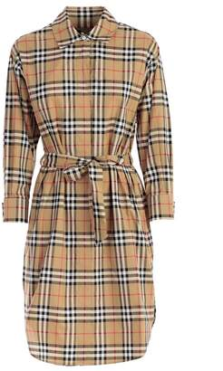 Burberry Checked Wrapped Dress