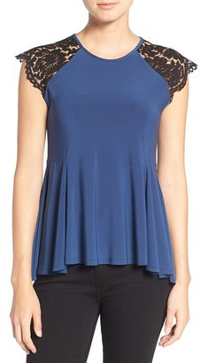 CeCe Scallop Lace Cap Sleeve Swing Top $69 thestylecure.com