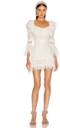 Raisa&Vanessa RAISA&VANESSA Ruffled Fringe Mini Dress in White | FWRD