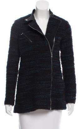 Yigal Azrouel Bouclé Leather-Trimmed Jacket