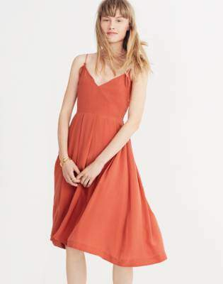 Madewell Silk Fern Cami Dress