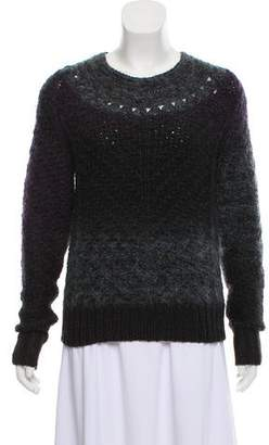 Theyskens' Theory Wool Mohair Knit Sweater