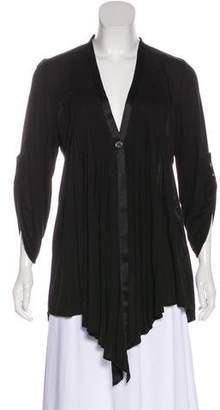 Elizabeth and James Pleated Long Sleeve Blouse
