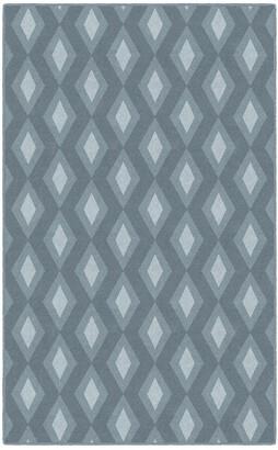Blue Area Brumlow Mills Diamonds Simple Trellis Printed Rug