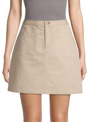 A.P.C. Classic Cotton & Linen Skirt