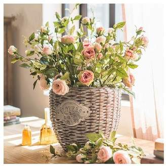 Winston Porter Silk Rose Bloom and Bud Stem Number of Stems: 5 Stems, Flower