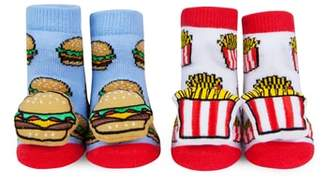 Waddle Burger and Fries 2-Pack Rattle Socks