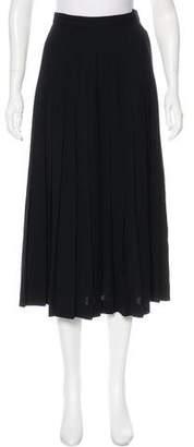 Christian Dior Pleated Midi Skirt