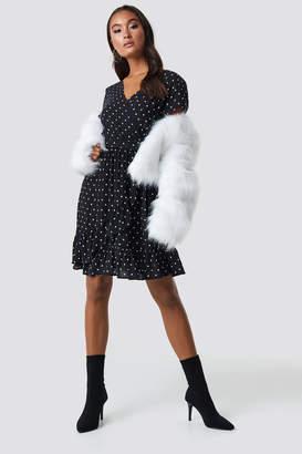 Trendyol Beli Rubber Midi Dress Black
