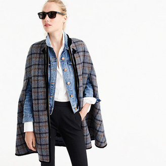 Collection zip cape in tartan $425 thestylecure.com