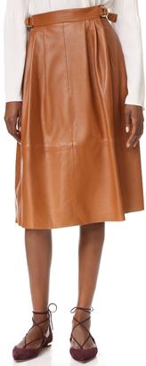 Derek Lam Buckled Leather Skirt $2,950 thestylecure.com