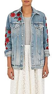 GRLFRND Women's Embellished Denim Jacket-Blue