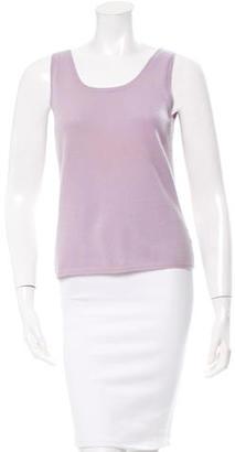 Vera Wang Cashmere Sleeveless Top $70 thestylecure.com