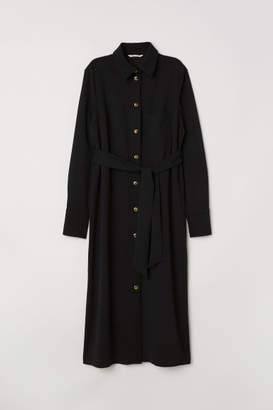H&M Jersey Shirt Dress - Black